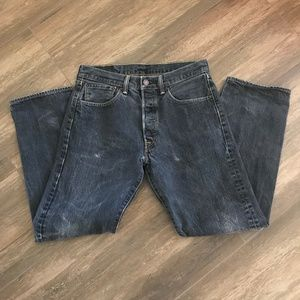 Levis 501 Jeans Straight Leg Button Fly
